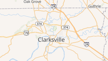 Clarksville, Tennessee map