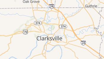 Clarksville, Tennessee map