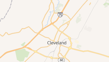 Cleveland, Tennessee map