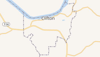 Clifton, Tennessee map