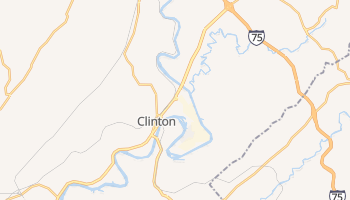 Clinton, Tennessee map