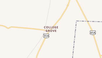 College Grove, Tennessee map
