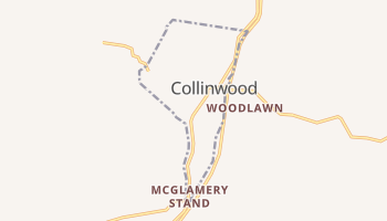 Collinwood, Tennessee map