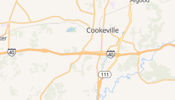 Cookeville, Tennessee map