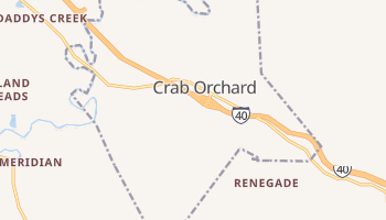 Crab Orchard, Tennessee map