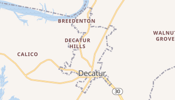Decatur, Tennessee map