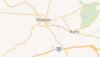 Dickson, Tennessee map