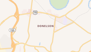 Donelson, Tennessee map