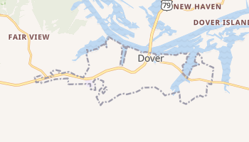 Dover, Tennessee map