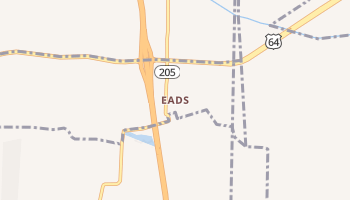 Eads, Tennessee map