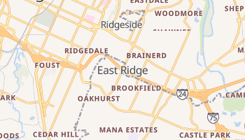 East Ridge, Tennessee map