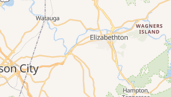 Elizabethton, Tennessee map