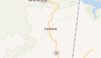 Farner, Tennessee map