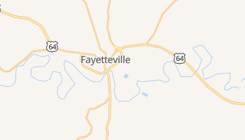 Fayetteville, Tennessee map