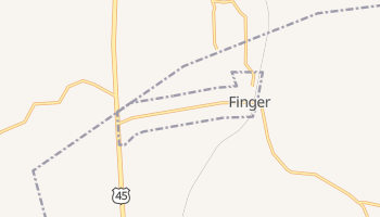 Finger, Tennessee map