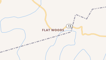 Flat Woods, Tennessee map