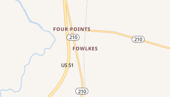 Fowlkes, Tennessee map
