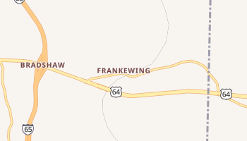 Frankewing, Tennessee map