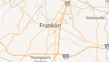 Franklin, Tennessee map