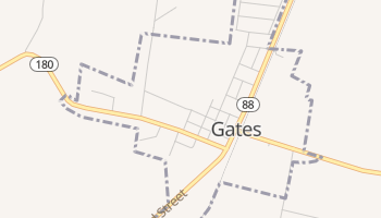 Gates, Tennessee map