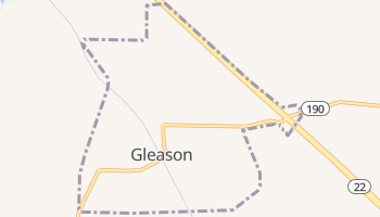 Gleason, Tennessee map