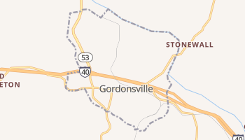 Gordonsville, Tennessee map