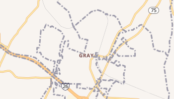 Gray, Tennessee map