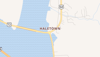 Haletown, Tennessee map