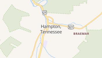Hampton, Tennessee map