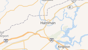 Harriman, Tennessee map