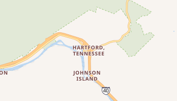 Hartford, Tennessee map