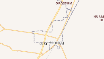 Henning, Tennessee map