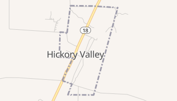 Hickory Valley, Tennessee map