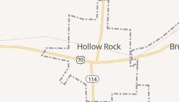 Hollow Rock, Tennessee map