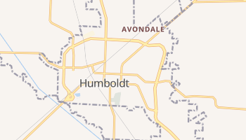 Humboldt, Tennessee map