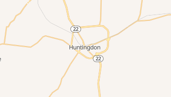 Huntingdon, Tennessee map