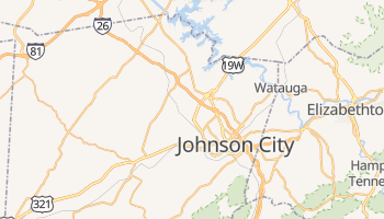 Johnson City, Tennessee map