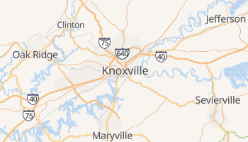 Knoxville, Tennessee map