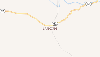 Lancing, Tennessee map