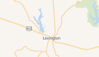 Lexington, Tennessee map