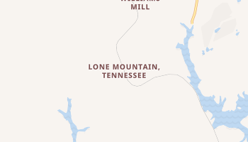 Lone Mountain, Tennessee map