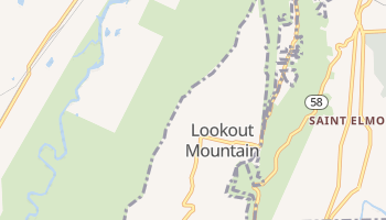 Lookout Mountain, Tennessee map