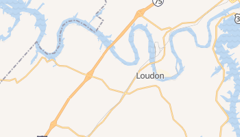Loudon, Tennessee map