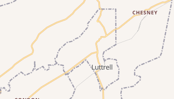 Luttrell, Tennessee map