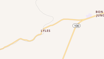 Lyles, Tennessee map