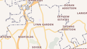 Lynn Garden, Tennessee map