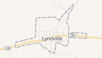 Lynnville, Tennessee map