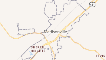 Madisonville, Tennessee map