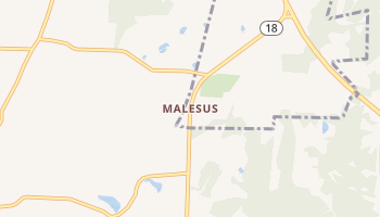 Malesus, Tennessee map
