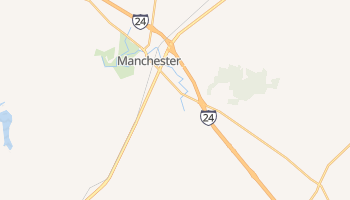 Manchester, Tennessee map